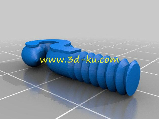 外骨骼手-3D打印模型的预览图3