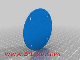 3D打印模型百分表的背板的图片