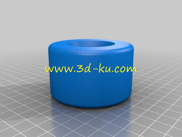 长板轮-3D打印模型的预览图1