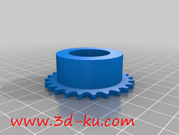 3D打印模型链轮带轴承的图片
