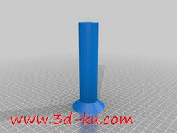 3D打印模型后方阀芯主轴的图片