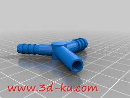 3D打印模型法兰的连接器的图片