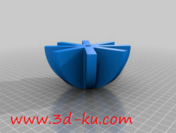 3D打印模型宠物食物给料机的图片