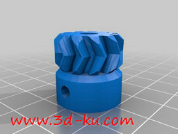 3D打印模型人字齿轮的图片