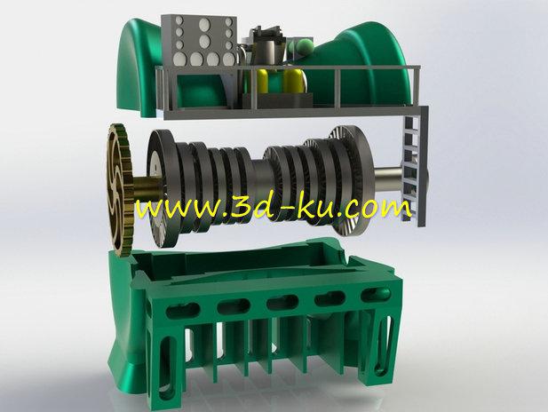 玩具汽轮机-3D打印模型的预览图1