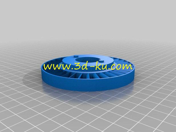 玩具汽轮机-3D打印模型的预览图2