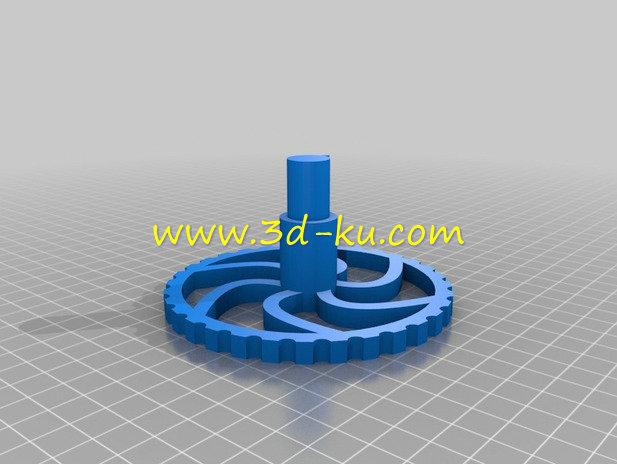 玩具汽轮机-3D打印模型的预览图3