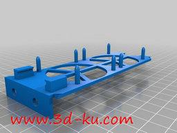 3D打印模型双风扇冷却器架子的图片