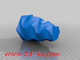3D打印模型艺术性的扭曲的螺花瓶的图片