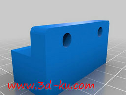 3D打印模型轴承安装板的图片