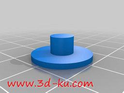 3D打印模型打印机色带旋钮的图片