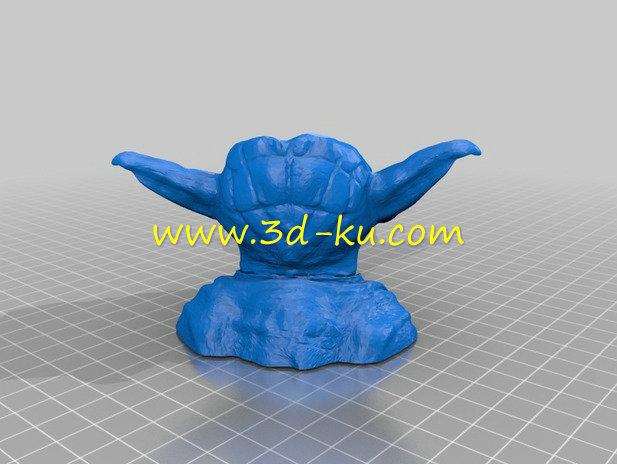 尤达的头上长出漂亮的-3D打印模型的预览图2