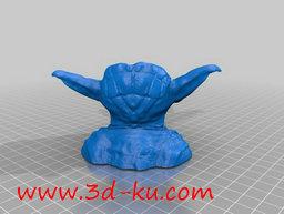 3D打印模型尤达的头上长出漂亮的的图片