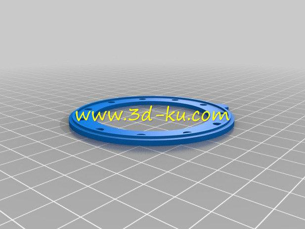 相机的机械虹膜光圈-3D打印模型的预览图2