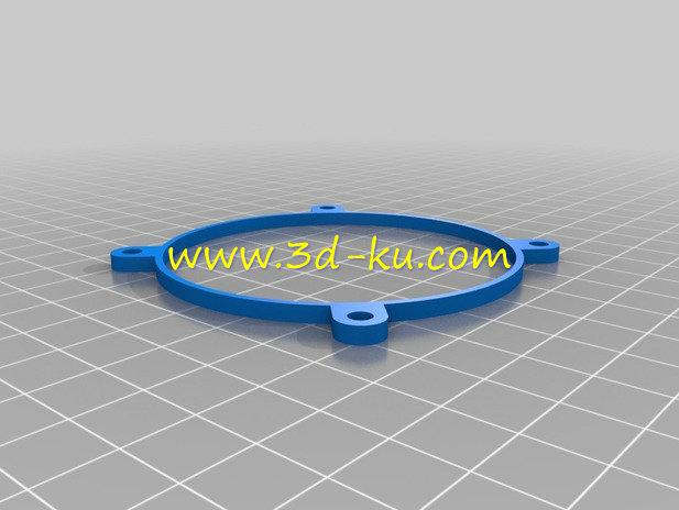相机的机械虹膜光圈-3D打印模型的预览图3