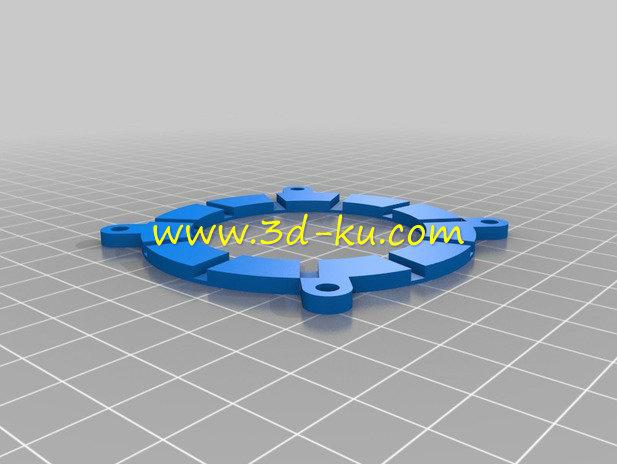 相机的机械虹膜光圈-3D打印模型的预览图4