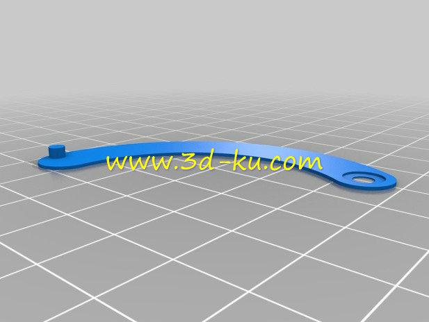 相机的机械虹膜光圈-3D打印模型的预览图5