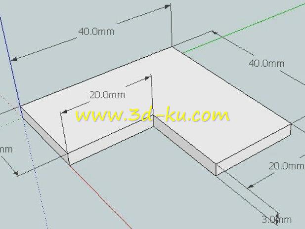 直角校准工具-3D打印模型的预览图1