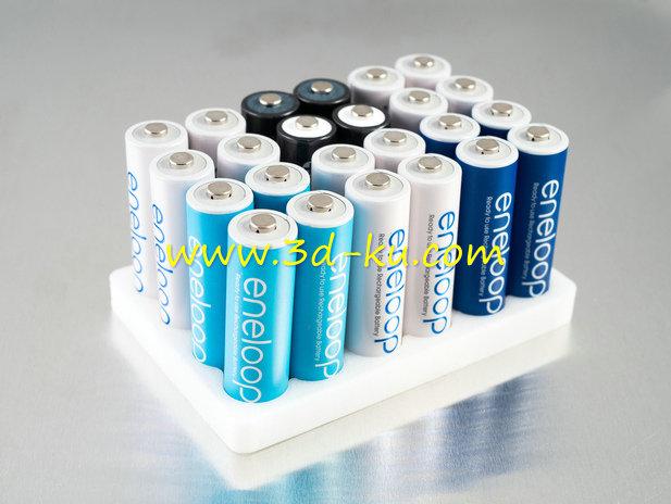 电池装置器-3D打印模型的预览图1