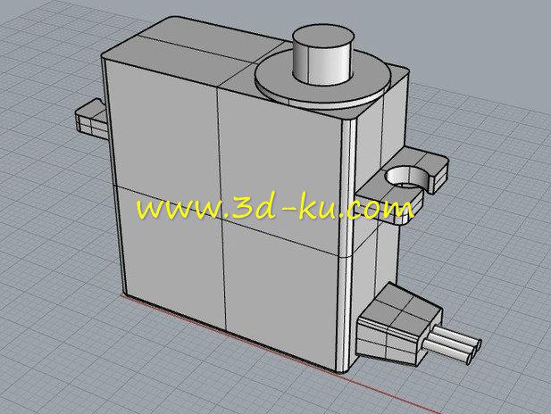 伺服电动机-3D打印模型的预览图1