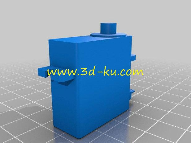 伺服电动机-3D打印模型的预览图2