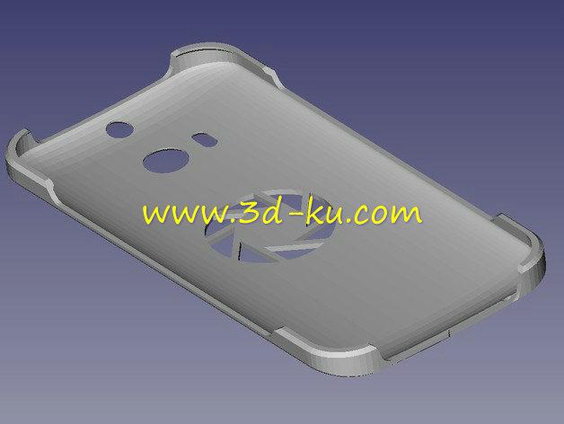 HTC one M8 手机壳-3D打印模型的预览图1