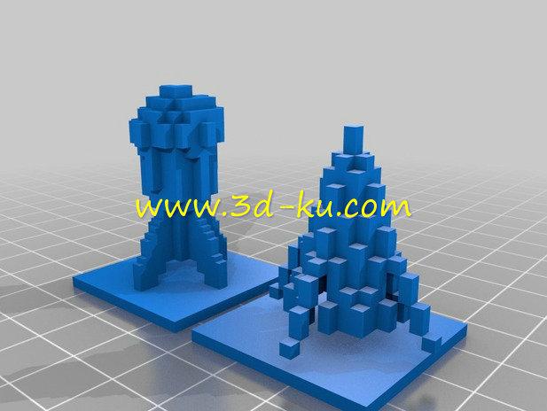冰与火的火箭-3D打印模型的预览图1