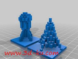 3D打印模型冰与火的火箭的图片