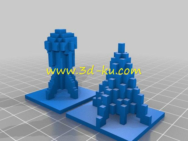 冰与火的火箭-3D打印模型的预览图2