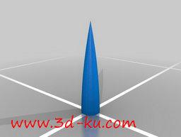 3D打印模型组装成火箭的各个零部的图片